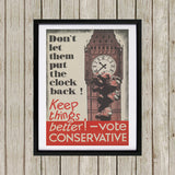 Don't let them put the clock back! Black Framed Print (Lifestyle)