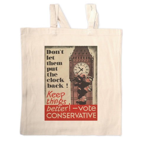Don't let them put the clock back! Long Handled Tote Bag