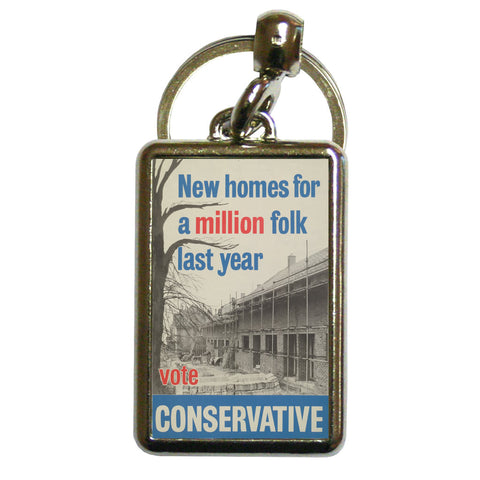 New homes a million folk last year Metal Keyring