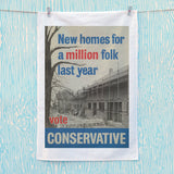 New homes a million folk last year Tea Towel (Lifestyle)