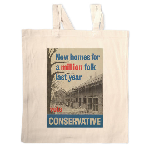 New homes a million folk last year Long Handled Tote Bag