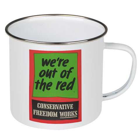 We're out of the red Enamel Mug