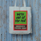 We're out of the red Long Handled Tote Bag (Lifestyle)