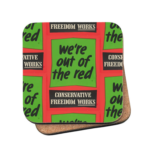 We're out of the red Cork Coaster