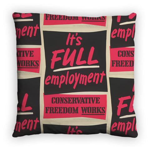 It's FULL employment Feather Cushion
