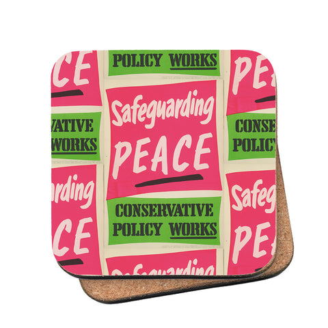 Safeguarding PEACE Cork Coaster