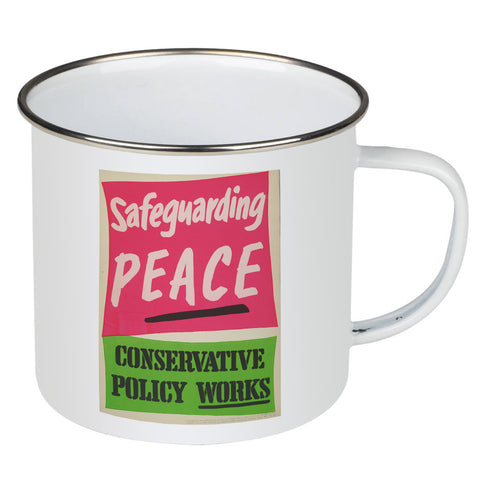 Safeguarding PEACE Enamel Mug