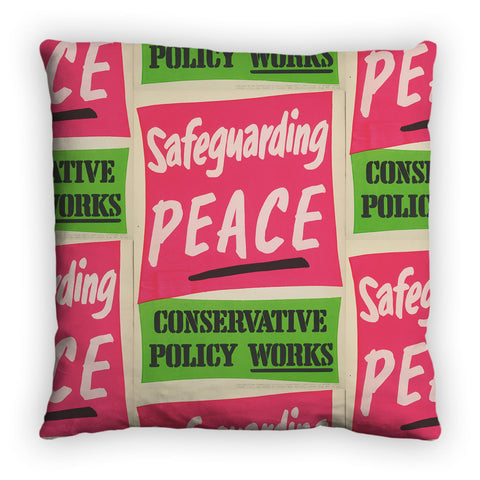 Safeguarding PEACE Feather Cushion