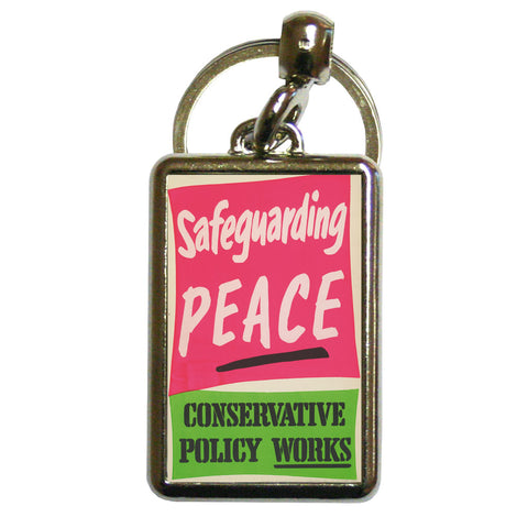 Safeguarding PEACE Metal Keyring