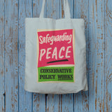 Safeguarding PEACE Long Handled Tote Bag (Lifestyle)