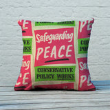 Safeguarding PEACE Feather Cushion (Lifestyle)