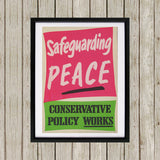 Safeguarding PEACE Black Framed Print (Lifestyle)