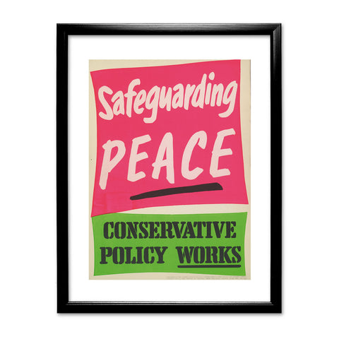 Safeguarding PEACE Black Framed Print