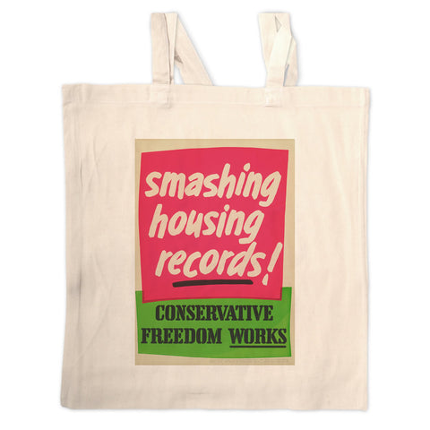 Smashing housing records! Long Handled Tote Bag