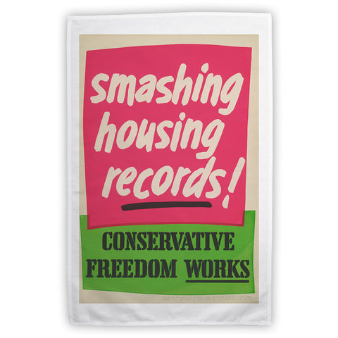 Smashing housing records! Tea Towel