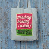 Smashing housing records! Long Handled Tote Bag (Lifestyle)