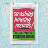 Smashing housing records! Tea Towel (Lifestyle)