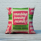 Smashing housing records! Feather Cushion (Lifestyle)
