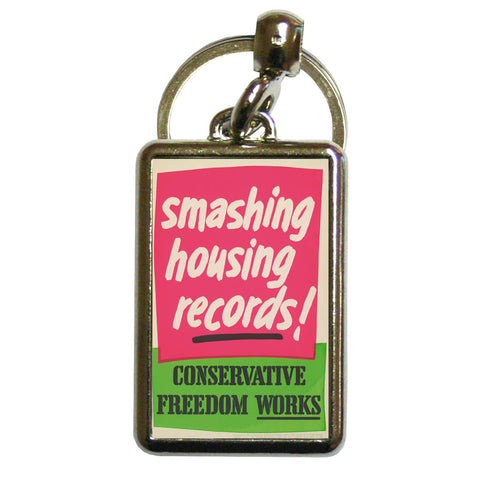Smashing housing records! Metal Keyring