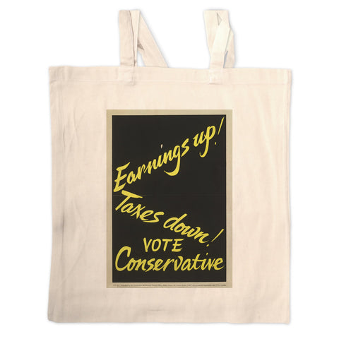 Earnings up! Long Handled Tote Bag