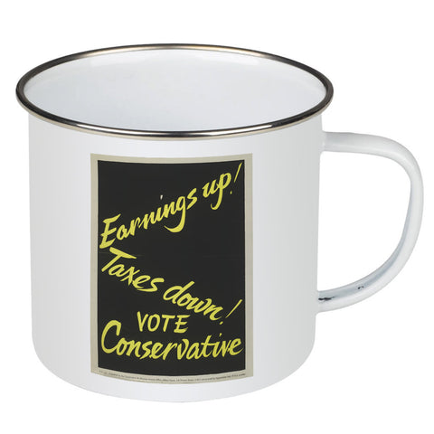Earnings up! Enamel Mug