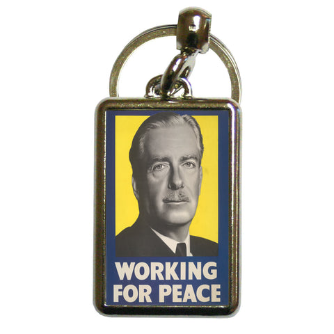 Working for peace Metal Keyring
