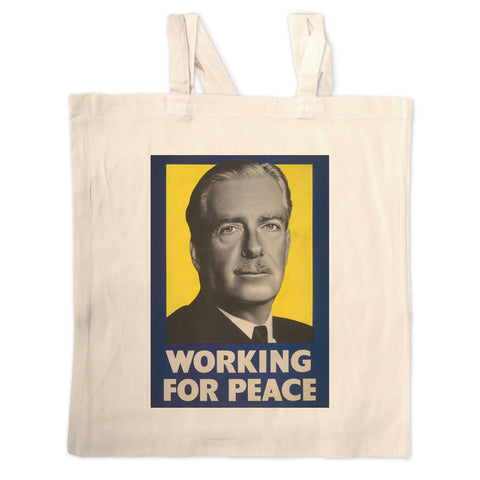 Working for peace Long Handled Tote Bag
