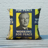 Working for peace Feather Cushion (Lifestyle)