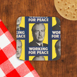 Working for peace Cork Coaster (Lifestyle)