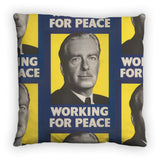 Working for peace Feather Cushion