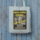 Queues, controls, rationing Long Handled Tote Bag (Lifestyle)