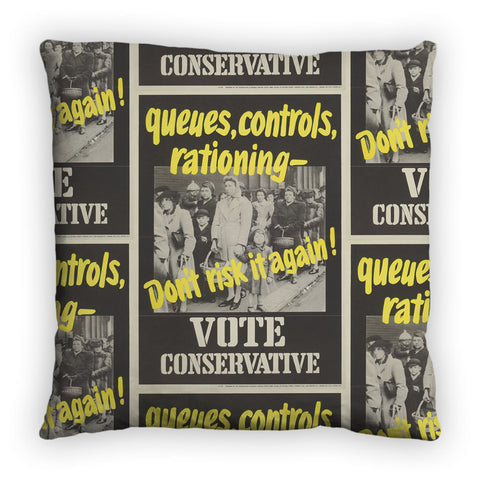 Queues, controls, rationing Feather Cushion