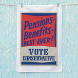 Pensions - Benefits - BEST EVER! Tea Towel (Lifestyle)