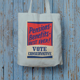 Pensions - Benefits - BEST EVER! Long Handled Tote Bag (Lifestyle)