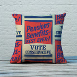 Pensions - Benefits - BEST EVER! Feather Cushion (Lifestyle)