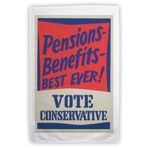 Pensions - Benefits - BEST EVER! Tea Towel