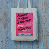 Shout it from a million new housetops! Long Handled Tote Bag (Lifestyle)
