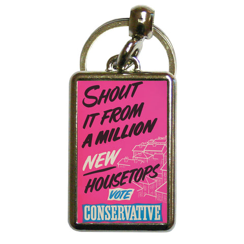 Shout it from a million new housetops! Metal Keyring