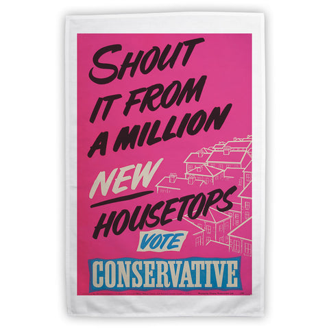 Shout it from a million new housetops! Tea Towel