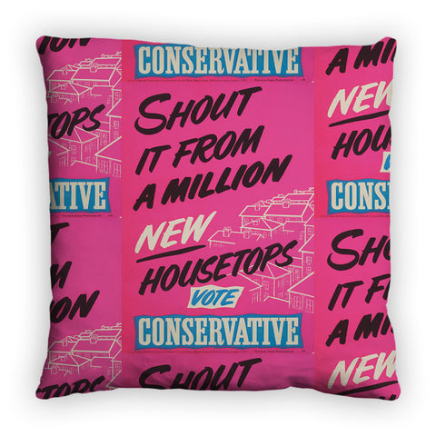 Shout it from a million new housetops! Feather Cushion