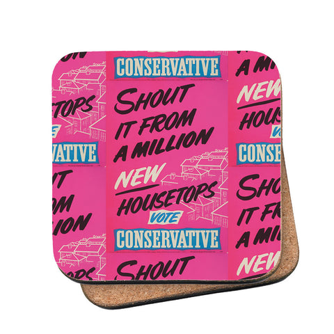 Shout it from a million new housetops! Cork Coaster