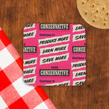 Continue to produce more, earn more, save more! Cork Coaster (Lifestyle)