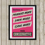 Continue to produce more, earn more, save more! Black Framed Print (Lifestyle)