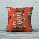 More for the young, the old, the sick Feather Cushion (Lifestyle)