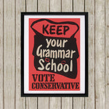 Keep your grammar school Black Framed Print (Lifestyle)