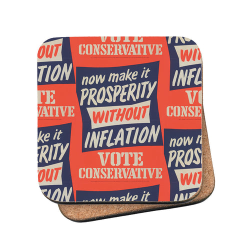 Now make it prosperity without inflation Cork Coaster