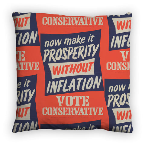 Now make it prosperity without inflation Feather Cushion