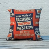 Now make it prosperity without inflation Feather Cushion (Lifestyle)
