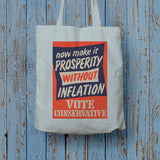 Now make it prosperity without inflation Long Handled Tote Bag (Lifestyle)