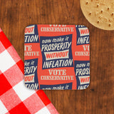 Now make it prosperity without inflation Cork Coaster (Lifestyle)